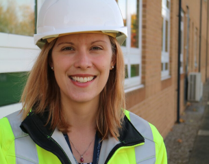 Female member of DIO UK staff championing women within construction.