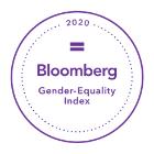 Bloomberg Gender-Equality Index 2020 logo.