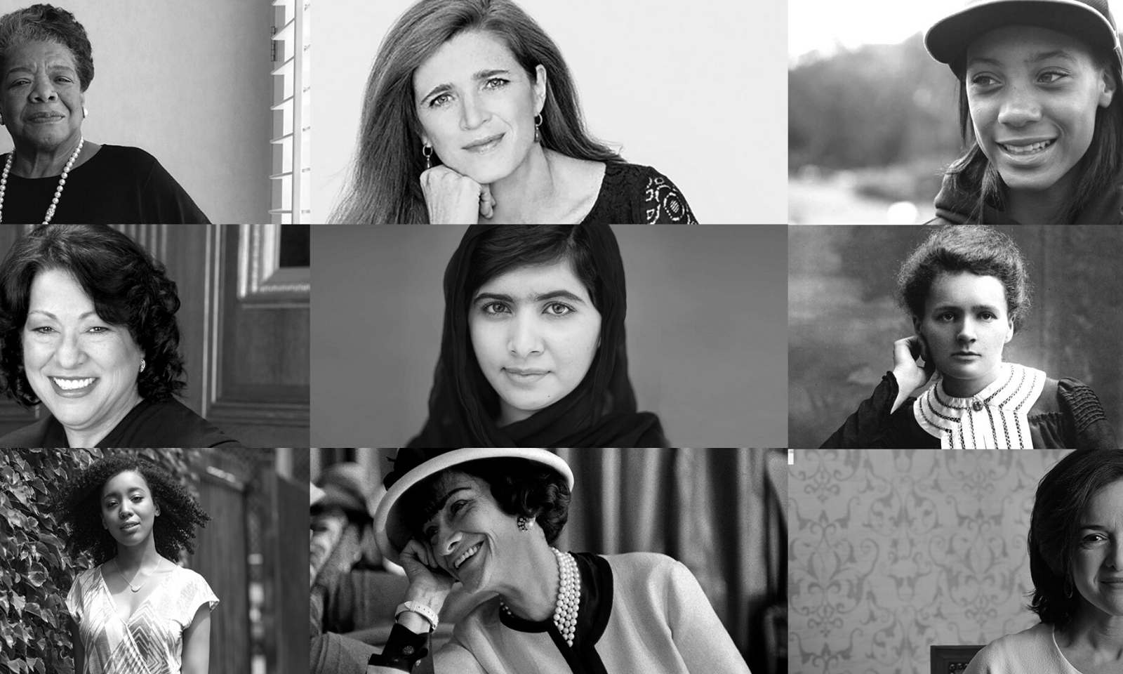 B&W images of women.