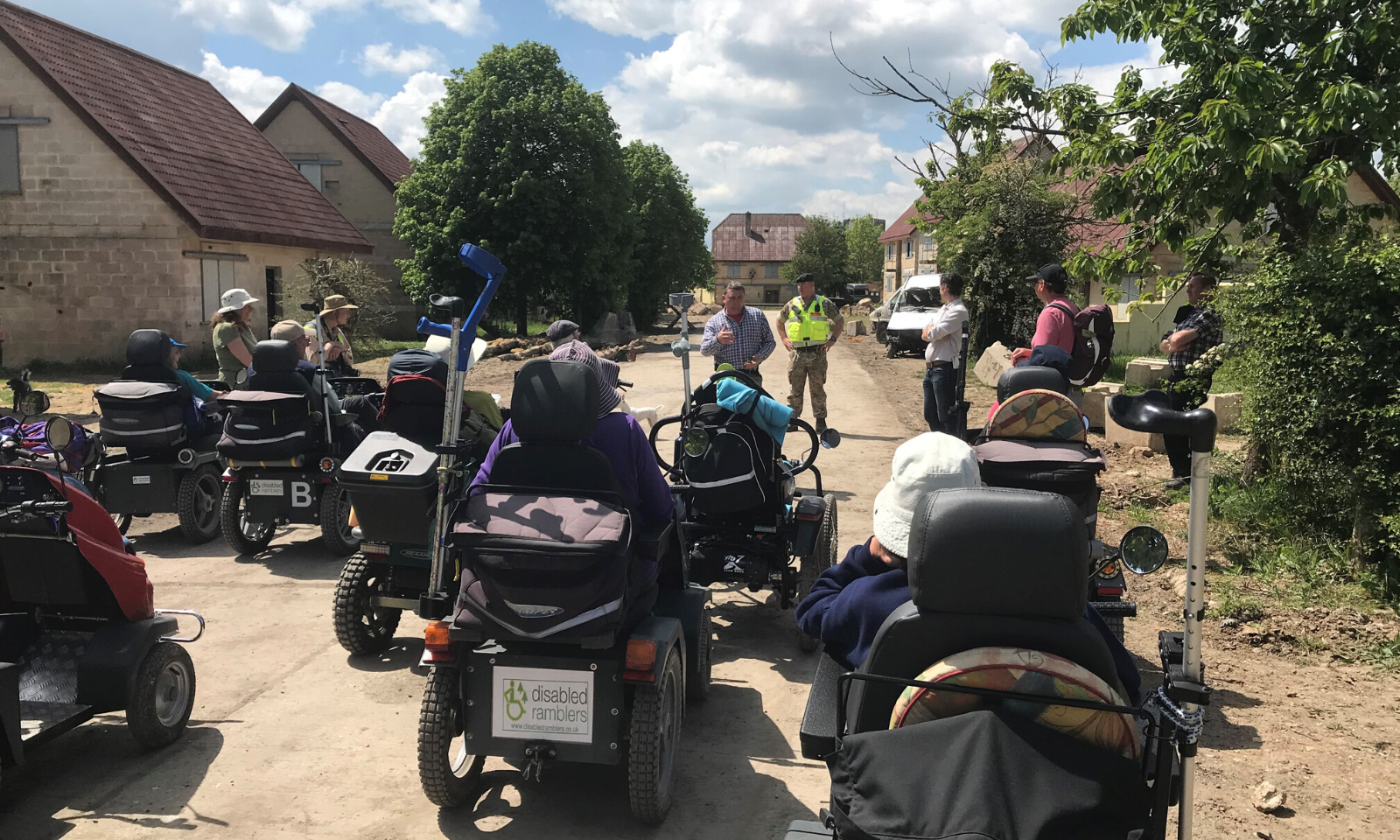 Welcoming the Disabled Ramblers to Salisbury Plain