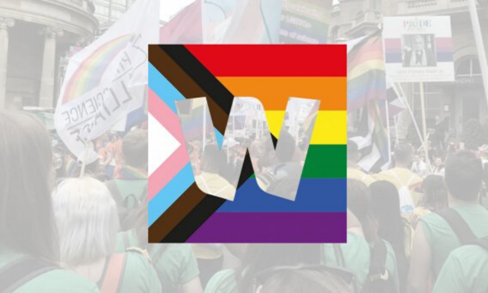 Wellcome logo with rainbow colours