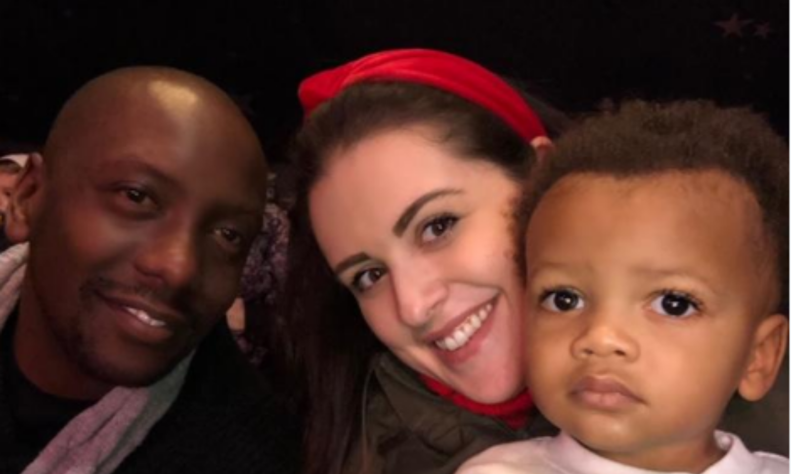 Katy with her husband and son