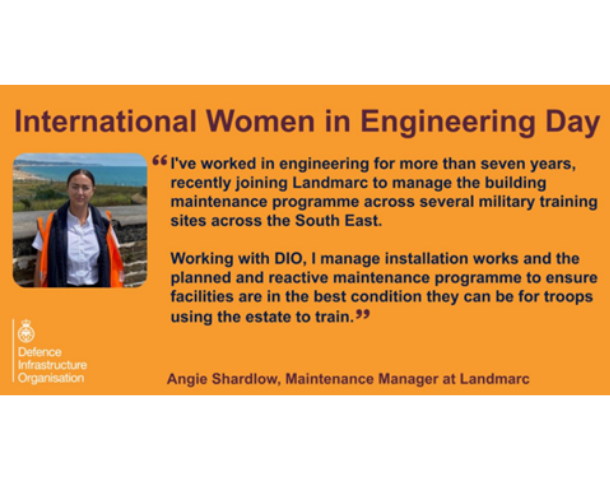 Angie Shardlow, Maintenance Manager from Landmarc Support Services helps to oversee reactive repair and mandatory tasks across military training sites in the South East