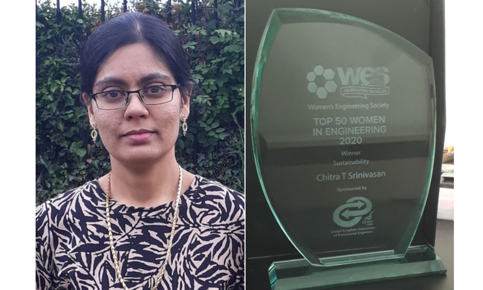 Fusion engineer Chitra Srinivasan has been named in the UK's Top 50 Women in Engineering for 2020.