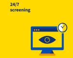24/7 screening