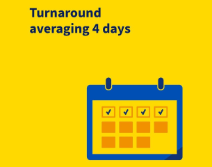 Turnaround averaging 4 days