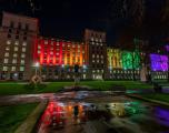 MOD HQ lit with rainbow lights