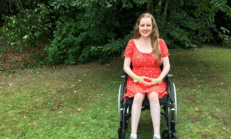 picture of lady in a wheel chair