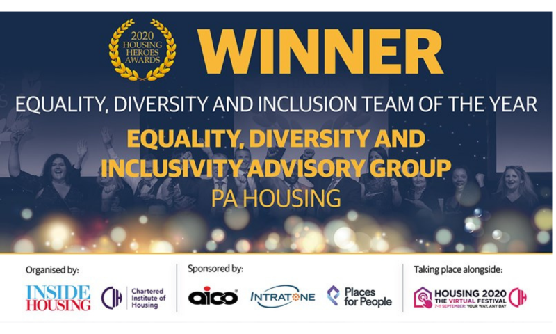 'Equality, Diversity and Inclusion Team of Year' at the Housing Heroes Awards