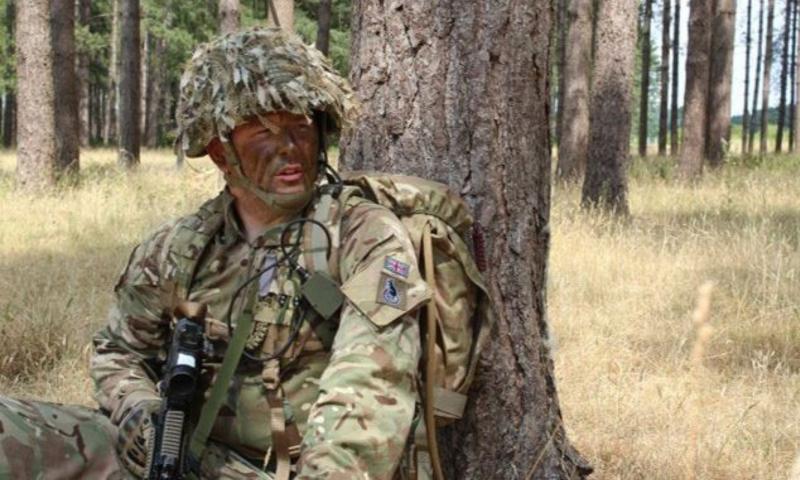 Rhys in uniform