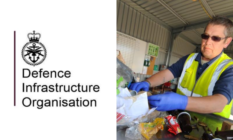 Man sorting rubbish