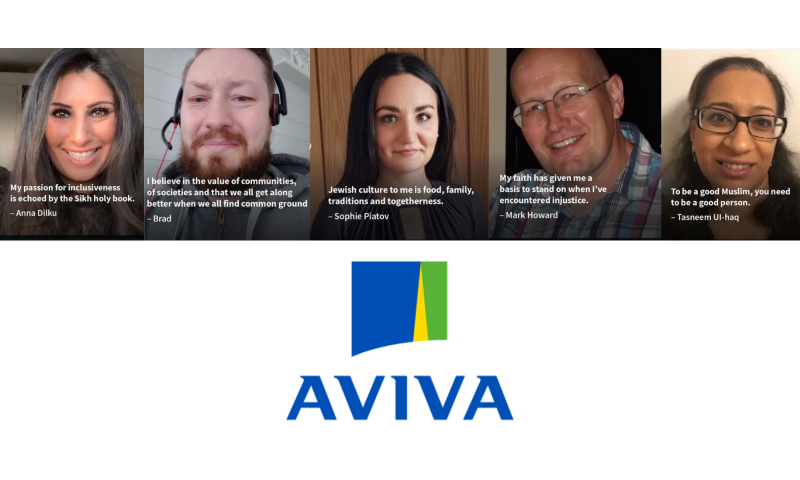 5 testimonials from Aviva staff