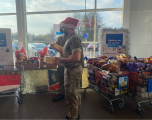 soilder at tesco