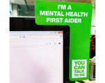 Mental Health First Aider screen mount