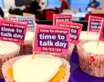 Cake sale raising funds for Time to Talk day