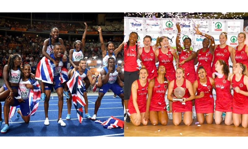 UK Athletics team and England Netball team.