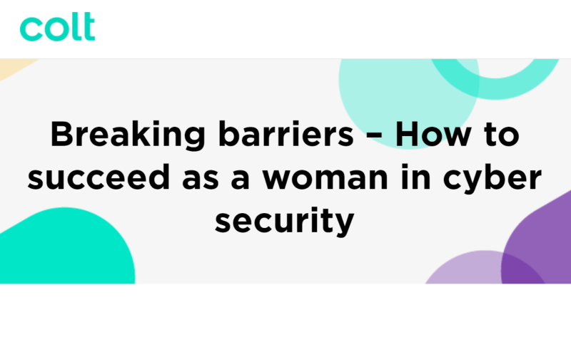 Breaking barriers – How to succeed as a woman in cyber security
