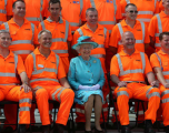 Cross rail opening with Queen Elizabeth II