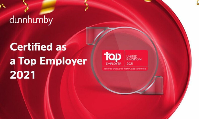 dunnhumby certified as a Top Employer 2021