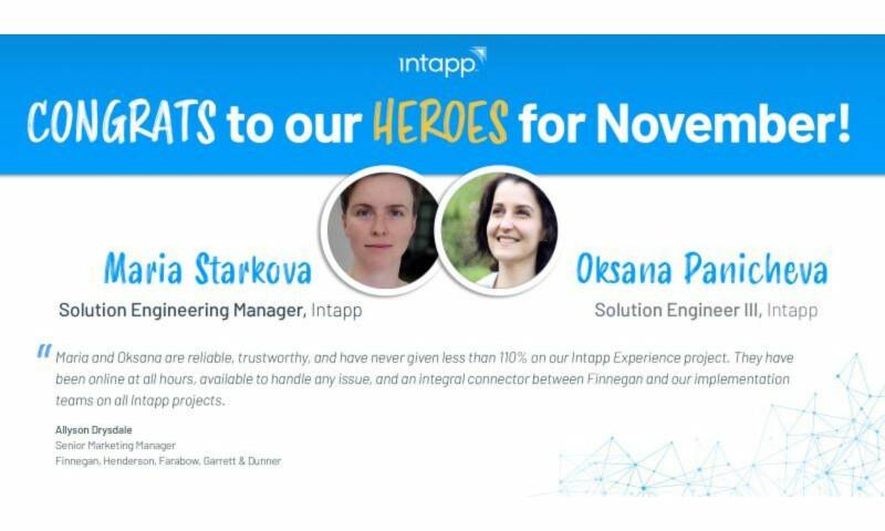 Intapp November Heroes
