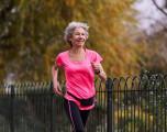 Senior woman running