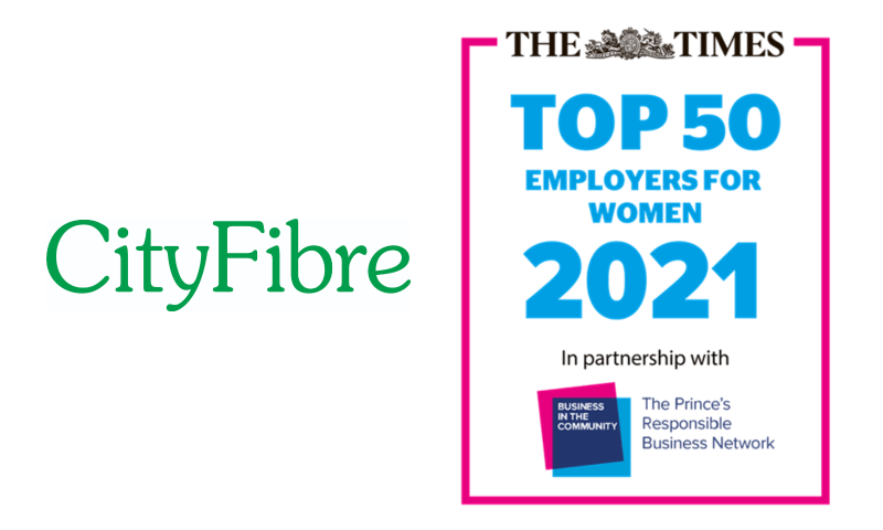 CityFibre- The Times Top 50 Employers for Women 2021