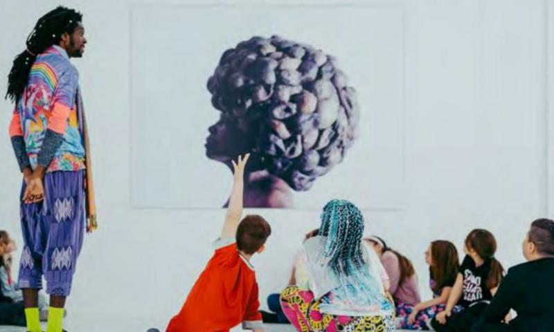 Children in a gallery