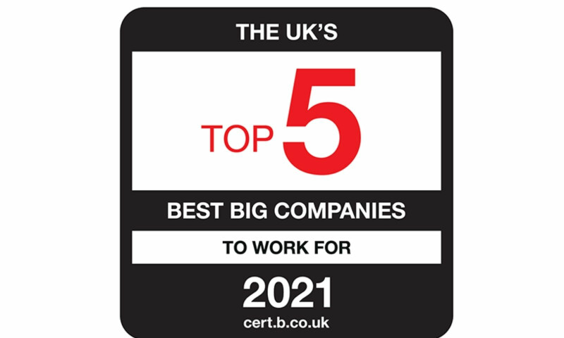 UK Top 5 Best Big Company to work for Logo