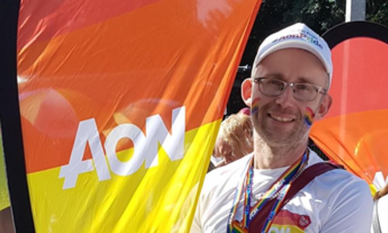 James Burke at London Pride 2019
