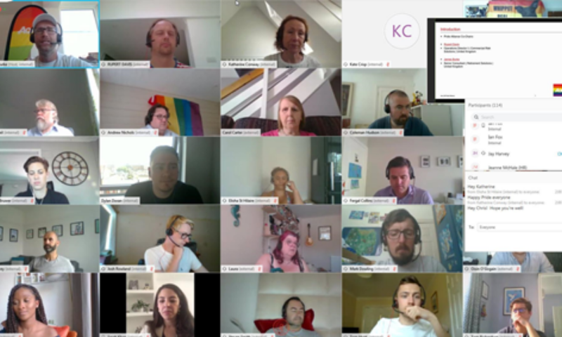 Aon Pride virtual meeting