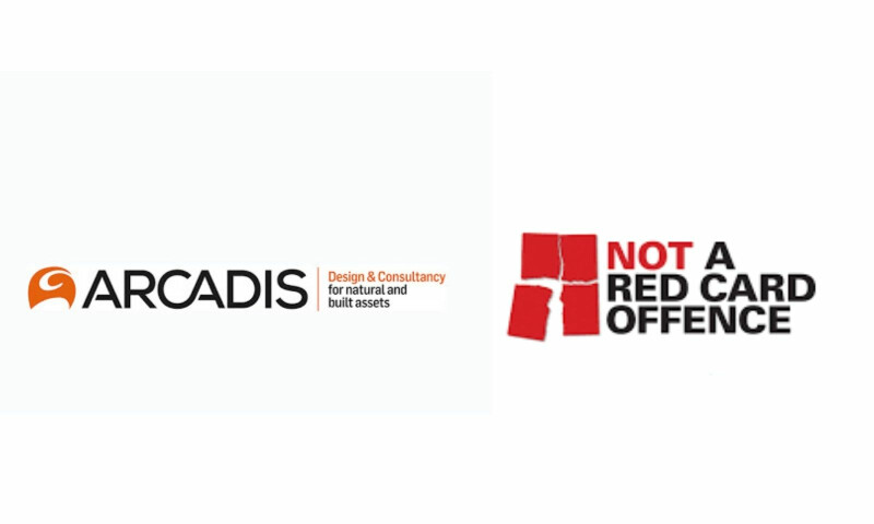 'Not a Red Card' and Arcadis Logo