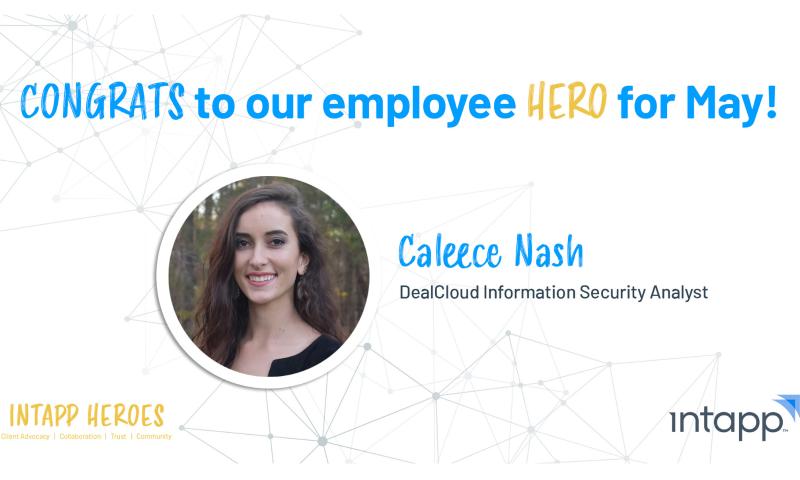 May Intapp Employee Hero, Caleece Nash