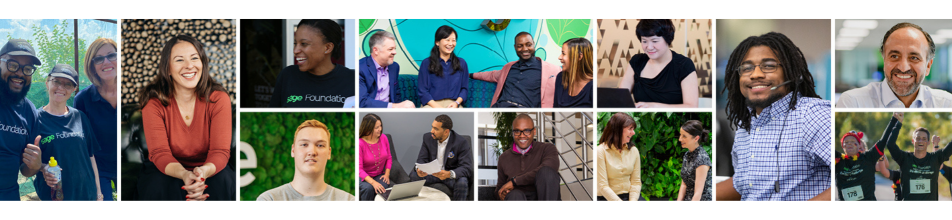 A diverse mix of Sage employees from across the business