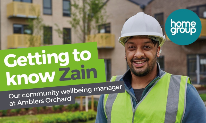 community wellbeing manager Zain