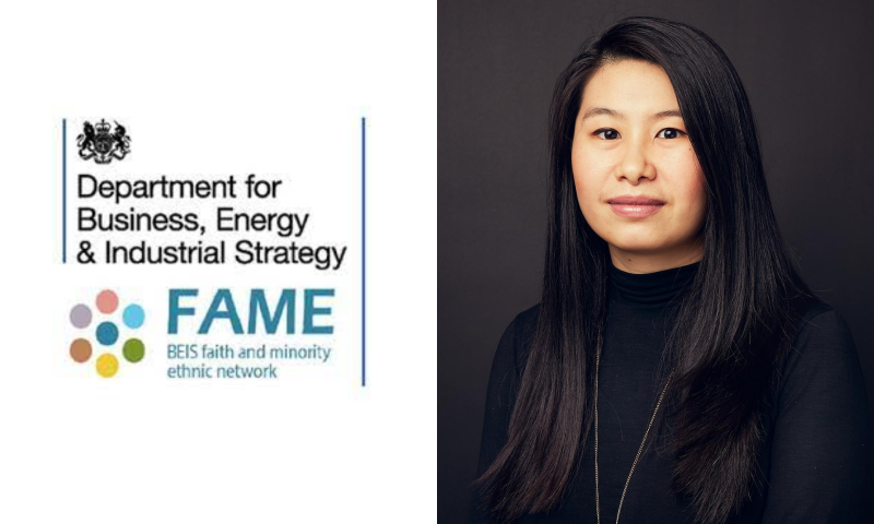 Sharon Lo, Head of Long Term International Climate Strategy in the Department of Business Energy and Industrial Strategy (BEIS) and Co-Chair of the Faith and Minority Ethnic Network (FAME).