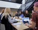 Life at Haymarket - Team meeting with majority female Haymarket employees