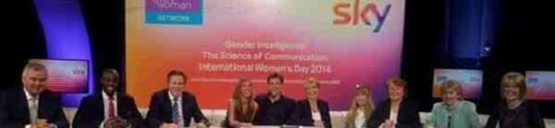 Panel of sky employees for their International Women's Day event