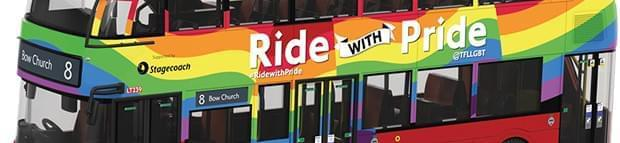 Image of You can buy TfL OUTbound #RidewithPride bus