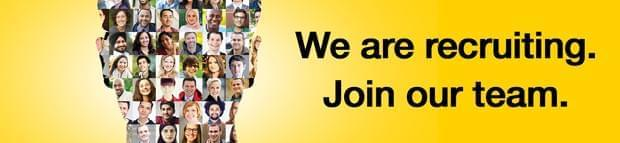 Image of the words We are recruiting. Join our team
