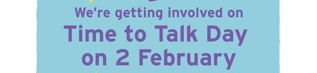 Image of the poster promoting time to talk day at Bank of England
