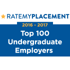 Image of the Rate My Placement Top 100 Undergraduate Employers 2016-2017