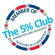 Image of Member of The 5% Apprentices and Graduates Investing In A Generation Logo