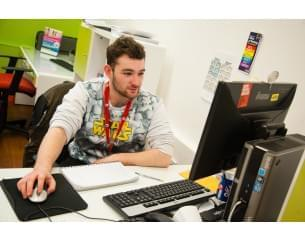 Image of student at City College Norwich
