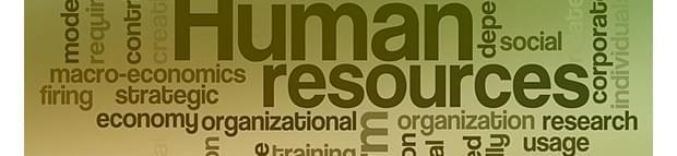 Human Resources related words in diagram