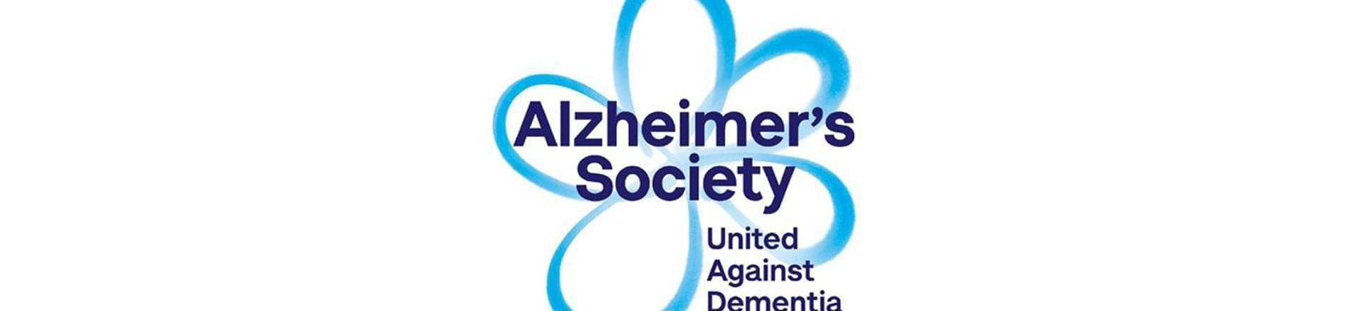 the Alzheimer's Society logo with the text 'United Against Dementia'
