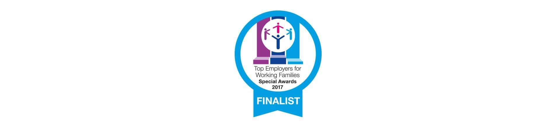 the Top Employers for Working Families Special Awards 2017 Finalist logo