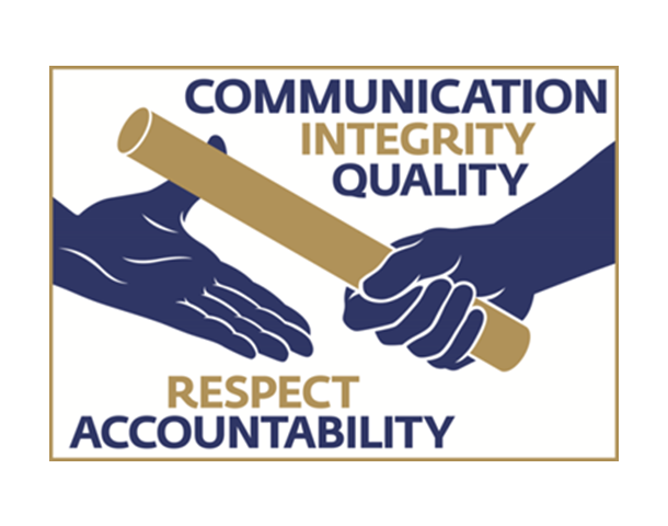 UK Athletics Values - Communication, Integrity, Quality, Respect, Accountability