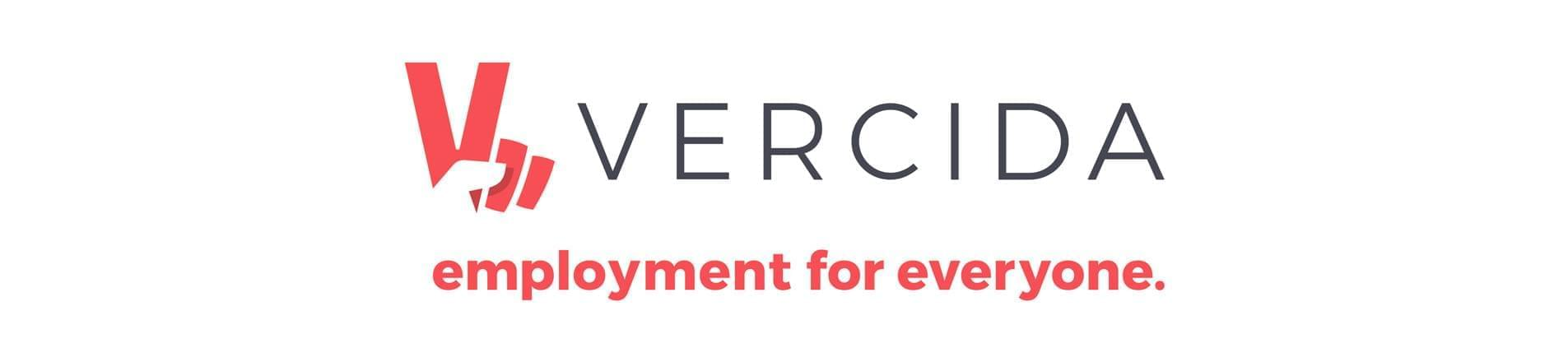 the VERCIDA logo with the text 'employment for everyone'