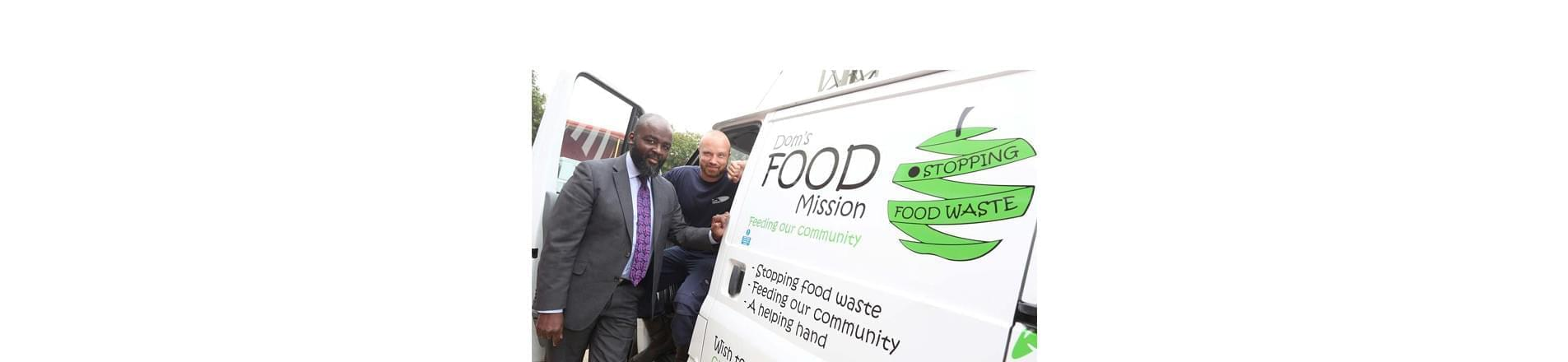 Dominic Warren from UK Power Networks in the Dom's Food Mission van