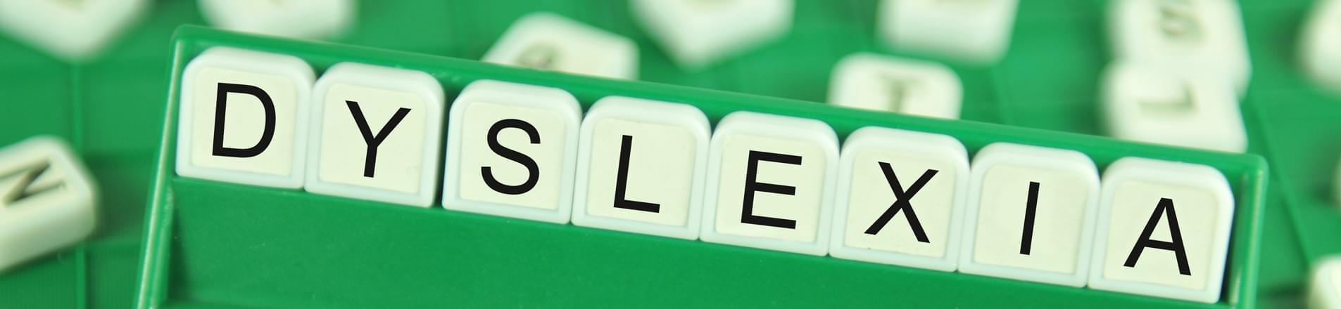 Scrabble letters spelling Dyslexia